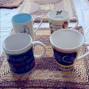 Collection of teachers mugs